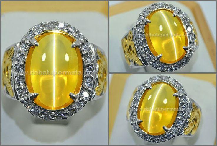 Sharp Ray CAT'S EYE TOP  Code:CE 122 Nama:CAT'S EYE Asal/Origin:India Berat Batu:- ct Berat Total:9.9 gr Size/Ukuran:14.5 x 9.6 x 6 mm