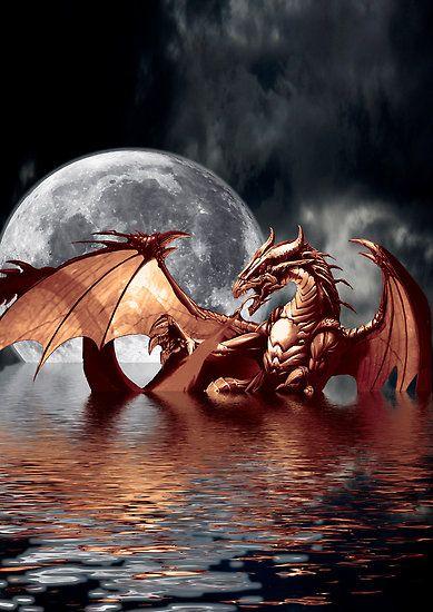 Dragon Moon ~ by Val Brackenridge