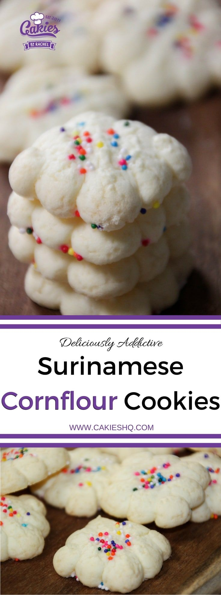 Making your own Surinamese Cornflour Cookies (Cornstarch Cookies) really isn't that hard and it's a fun as well.   Recipe   Gluten Free