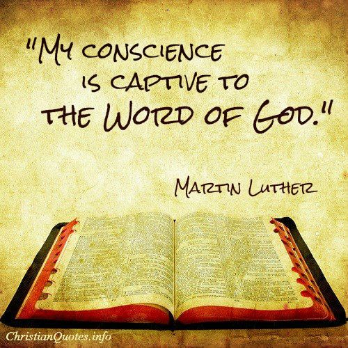 Martin Luther Quote - Word Of God - Christian Quotes