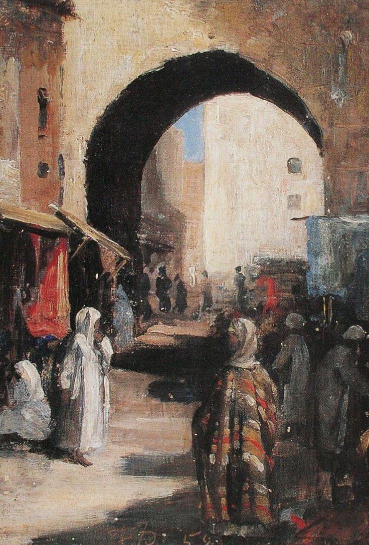 Frank Buchser (Suisse, 1828-1890 – Stadttor in Fes (1858) Collection privée