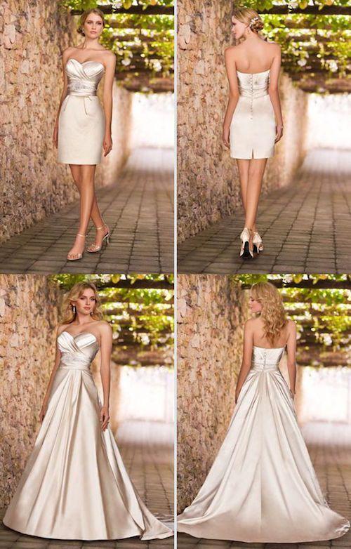 Falda sobre falda en estos vestidos de novia desmontables. No parece el mismo vestido, no?