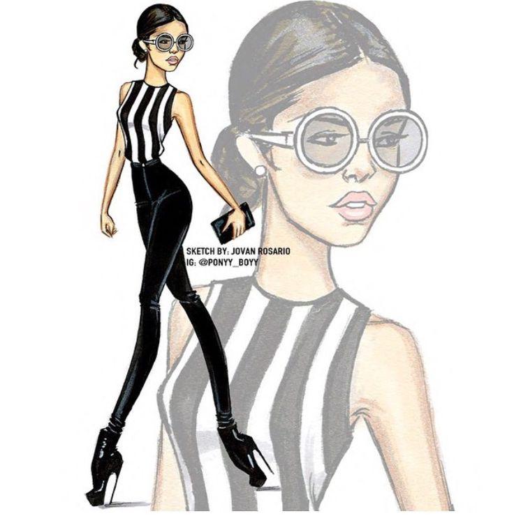 Clipart Black White Fashion