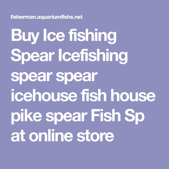 Buy Ice fishing Spear Icefishing spear spear icehouse fish house pike spear Fish Sp at online store