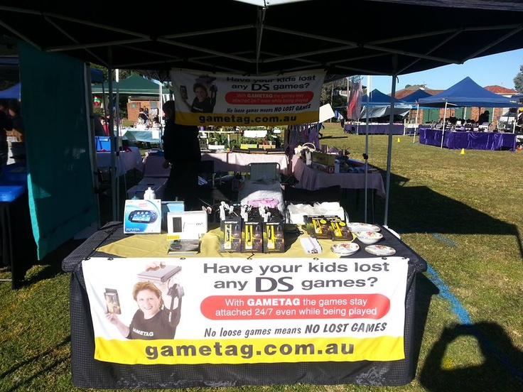Gametag at Panaina School Mania Fete.  Have your kids lost DS games check out Gametag and stop the stress of looking for games.    http://www.youtube.com/watch?v=Wcy5hUlZuc4 Gametag DS game case and holder.