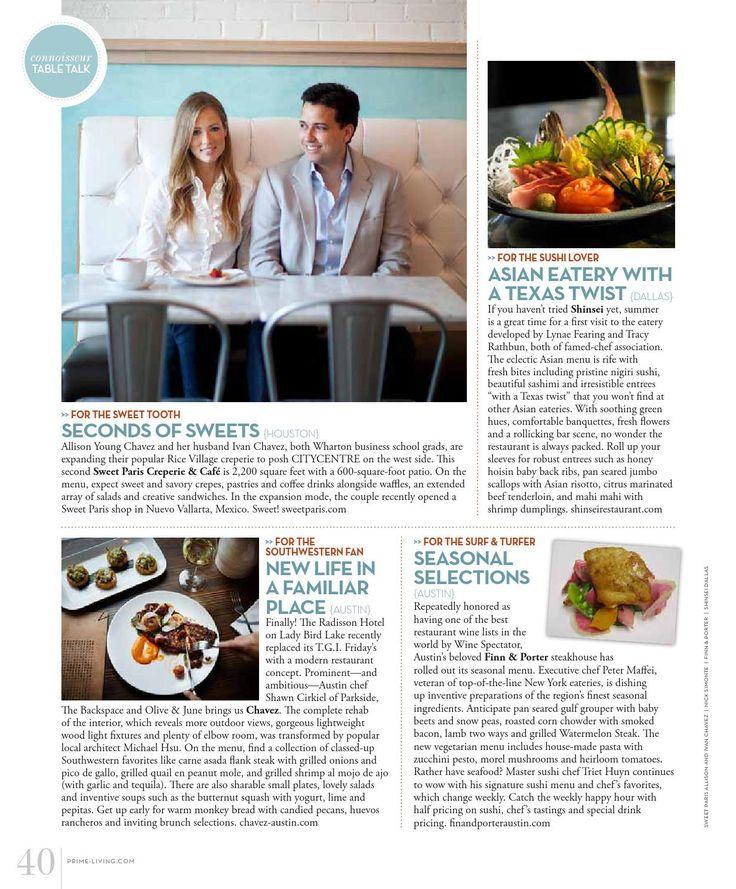 Churrascos Memorial City featured in Prime Living Magazine!