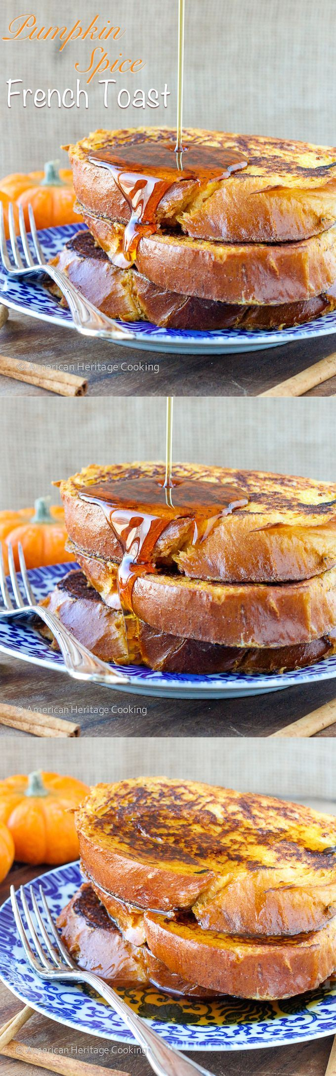 Pumpkin Spice French Toast   A V-Day Breakfast recipe for TWO! Or your easiest Valentine's Day Dinner yet!