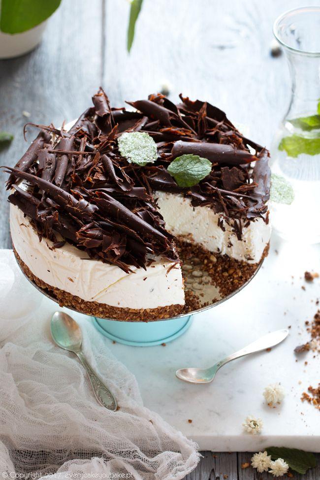 sernik miętowy z czekoladą na zimno