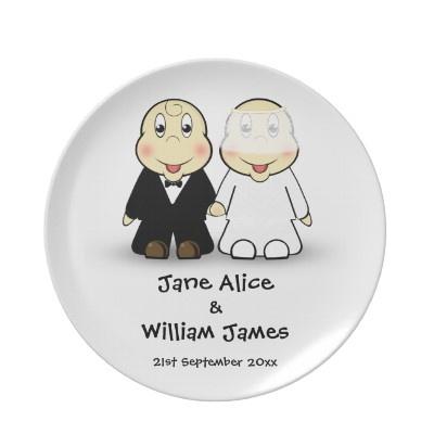 novelty wedding souvenir plates