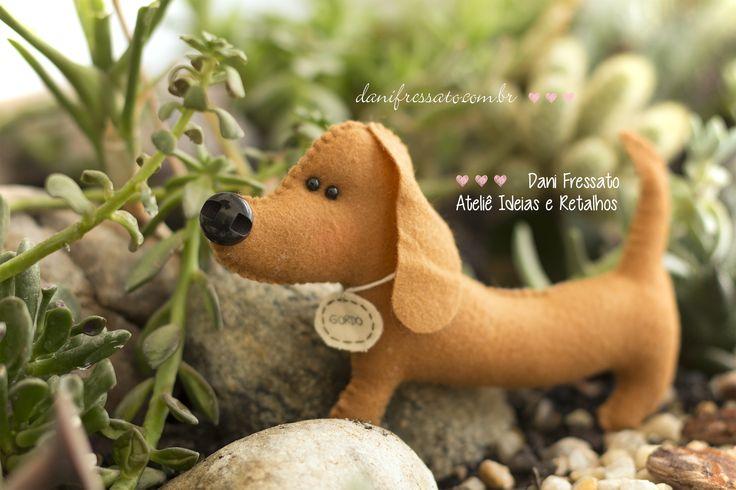 Cachorro de Feltro - Basset