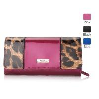 Serenade Darlene Leopard Contrast Leather Wallet