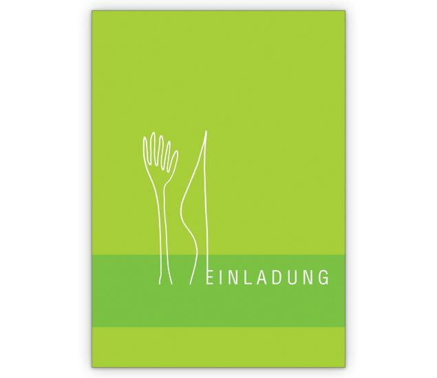 Designer Essen Einladungs Klappkarte   Grusskarten Onlineshop