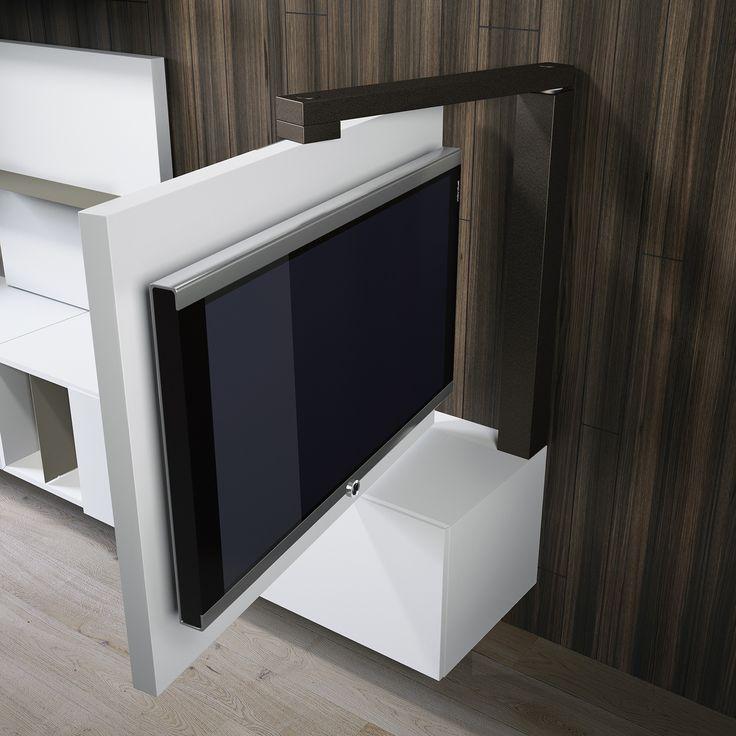 Nos complace presentar el modelo panel giratorio de Mueble para TV ...