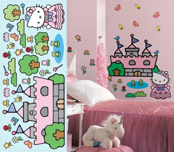 Superb Hello Kitty Princess Castle Giant Wall Mural   Wall Sticker Outlet Part 30