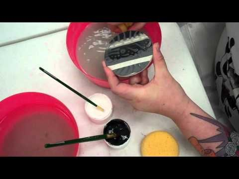 Water Etching using Modge Podge-  This video shows a resist technique using mod podge and underglaze to create a raised, colored design on your pots.