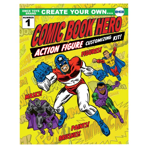 For your little comic book fans, let them create their own comic book heroes by mixing and matching heads, bodies, decals and paint! #BlackFriday #CyberMonday  http://www.overstock.com/8137075/product.html?CID=245307