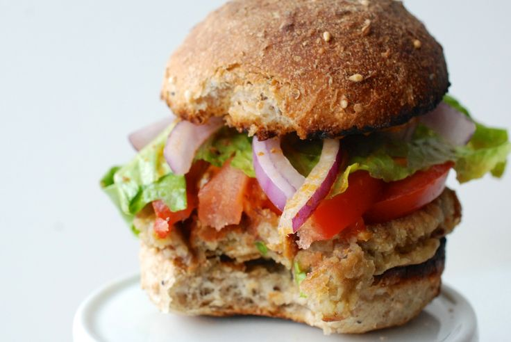 Burger Fi has the best veggie burgers and this is a good mimic recipe... Don't be intimidated by the ingredient list... I didn't use lentils (just quinoa), didn't use red wine, didn't blend the ingredients, and used mayo/sriracha for sauce... YUM.