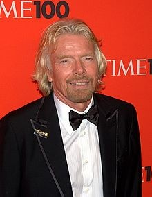 Richard Branson - Wikipedia, the free encyclopedia.  Read his biography, he seems like a neat guy...if neat is still a phrase...