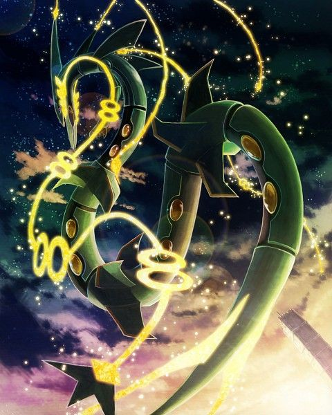 pokemon, rayquaza, and mega-rayquaza Bild