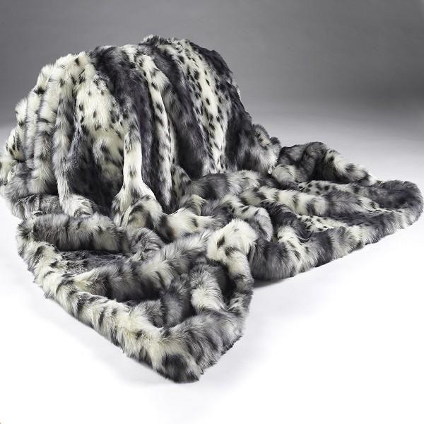 Faux Fur Throw Grey Lynx Faux Fur Throw Faux Fur Fur Throw