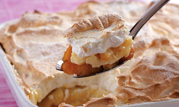 Como fazer Torta de banana com cobertura de suspiro