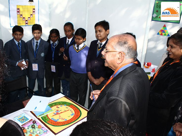 Mr S K Bhattaacharya judging the result of ABACUS in talented students from various schools across Delhi/NCR, at National maths Expo, held at IIT Delhi, organized by AVAS India