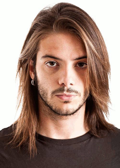 Rockstar long haircut for men. - http://www.mens-hairstylists.com/long-hairstyles-for-men/