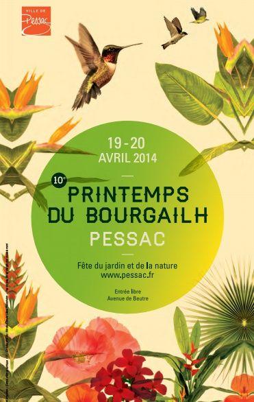 Le Printemps du Bourgailh, fête du jardin et de la nature. Du 19 au 20 avril 2014 à pessac.