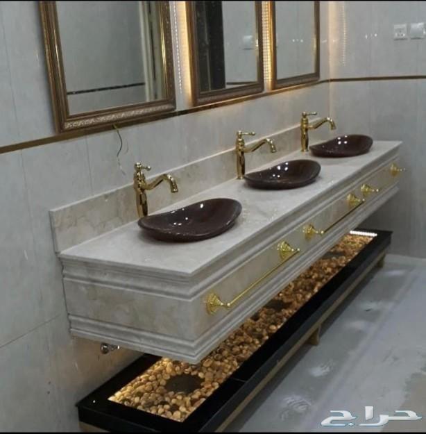 مغاسل رخام ومغاسل ديكور Bathroom Vanity Vanity Double Vanity