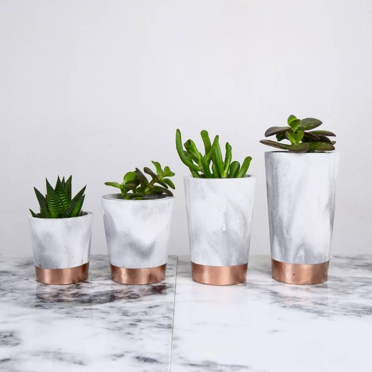 Are you interested in our copper dipped marble pots? With our cement pots in concrete with copper and you need look no further.