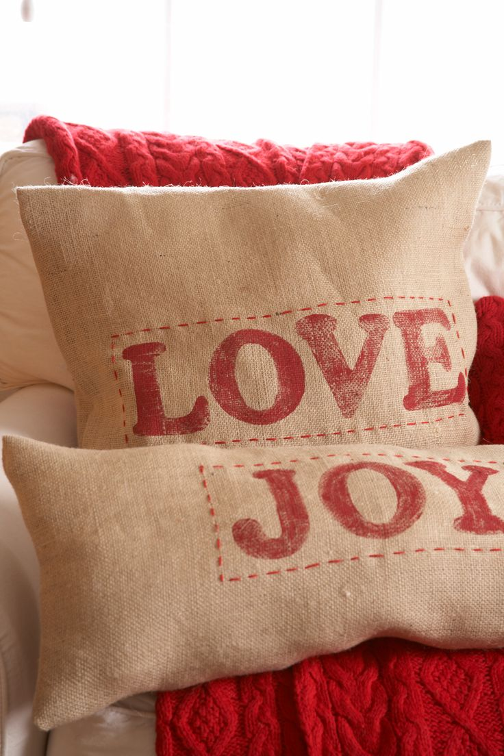 Joy and Love Pillow Covers