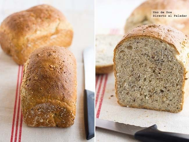 Pan de espelta multi semillas. Receta