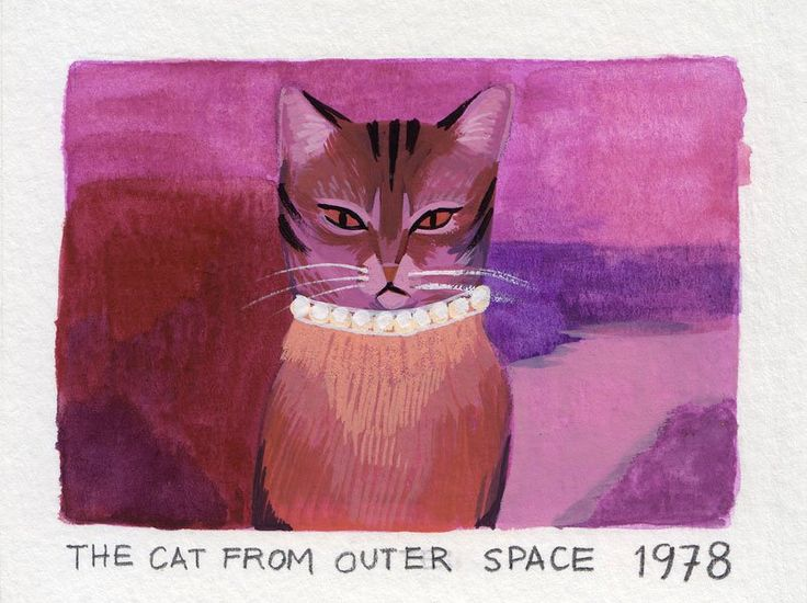 Apparently this cat is from outer space. Part of Ellen Surrey's Film Stills collection.