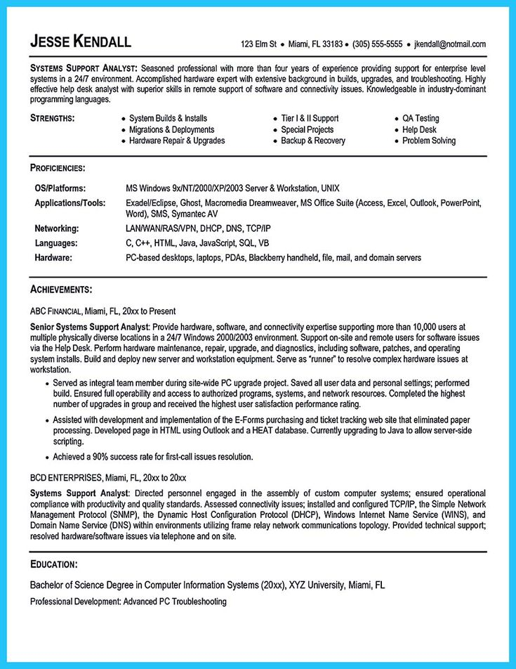 awesome Best Secrets about Creating Effective Business Systems Analyst Resume,