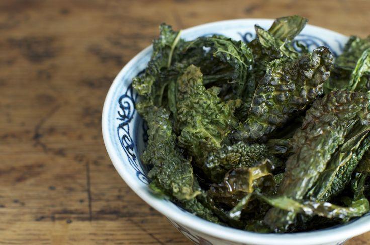 Kale chips - chips di cavolo romano - vegan and glutenfree