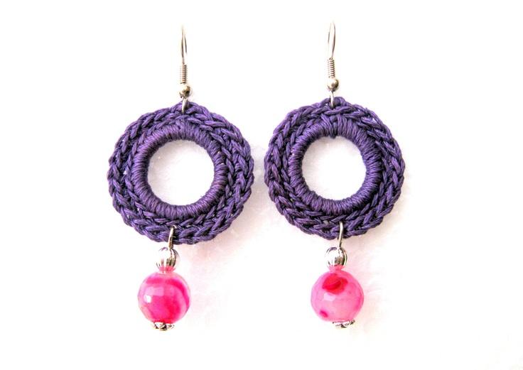 Handmade Violet Crochet Earrings  https://www.etsy.com/listing/129358099/orecchini-celesti-ad-uncinetto-con?ref=shop_home_active