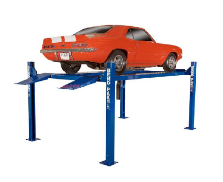 9,000lb Narrow Width Standard Length 4 Post Car Lift - Car Guy Garage