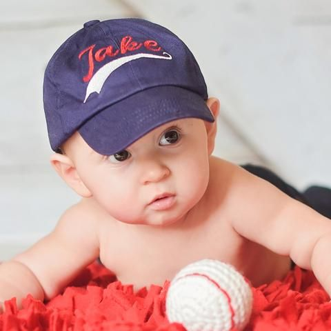 Sports Font Personalized Baseball Cap for Baby Boys