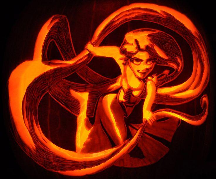 Pumpkin carving tangled s rapunzel took me