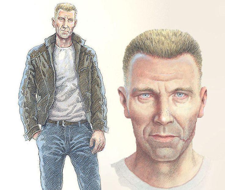 <p>HARRY HOLE: Harry Hole bruker vanligvis t-skjorte og dongeribukse når han leter etter seriemordere. Til høyre ser vi Harald Nygårds portrett av Jo Nesbøs krimhelt Harry Hole.</p>