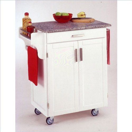 Home Styles 9001-0023 Create-a-Cart 9001 Series Cuisine Cart with Salt and Pepper Granite Top, White, 32-1/2-Inch by Home Styles. $299.39. This cart is having a two door cabinet with an adjustable shelf within and utility drawer on metal drawer slides. Available in white finish. This home styles 9001 series cuisine kitchen cart is a unique and refreshing solution for kitchen utility. Made of solid wood, natural asian hardwood with salt and pepper granite top and utili...