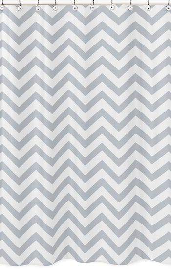 Buy Gray and White Chevron Shower Curtain by Sweet Jojo Designs and add a trendy Zig Zag touch to your bathroom. BabysOwnRoom.com: Free Shipping, Great Service!
