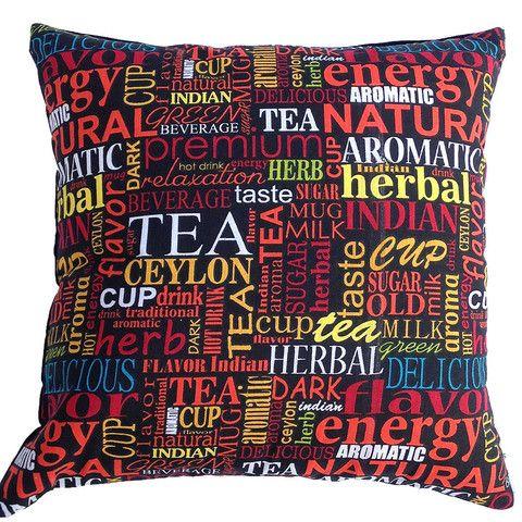Cushion Cover Kitchen Tea 40cm 50cm 60cm Black Orange Red Yellow