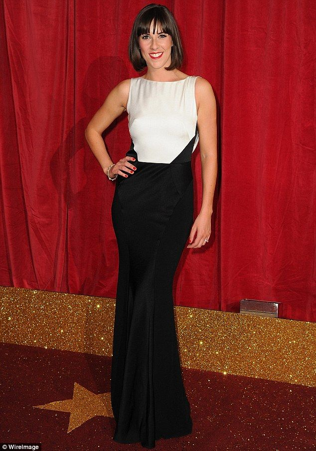Verity nice! Emmerdale's Verity Rushworth wowed as she hit the event in a simple black-and...