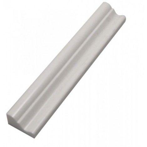 White thassos marble 2x12 chair rail molding |Thassos Marble 2x12