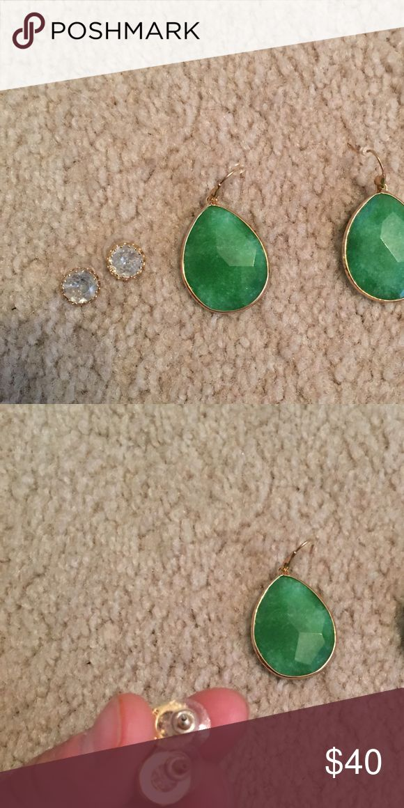 Two sets of Stella and Dot Earrings Two sets of Stella and Dot Earrings, never worn Stella & Dot Jewelry Earrings