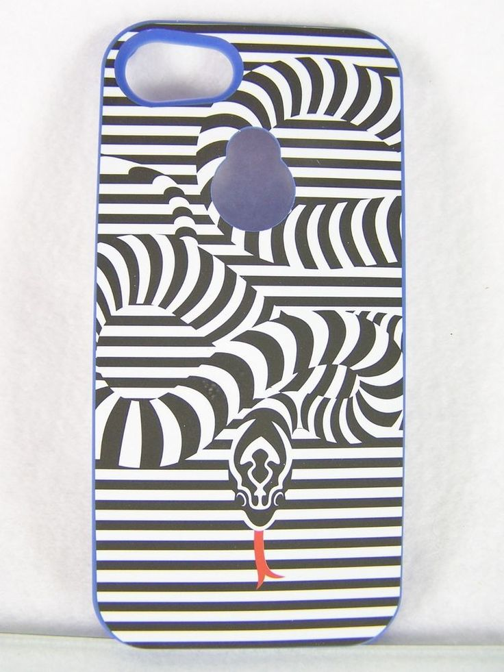 #Maxboost Fusion #cell #mobile #wireless #cellphone hard rigid rugged black white and blue #striped #snake #print #pattern #plastic #matte #premium coated snap #phone #case with #sleek & #slim design and compatible with #Apple #iPhone 5/5S, brand new & unused in original manufacturer's packaging & white cardboard retail protective box…