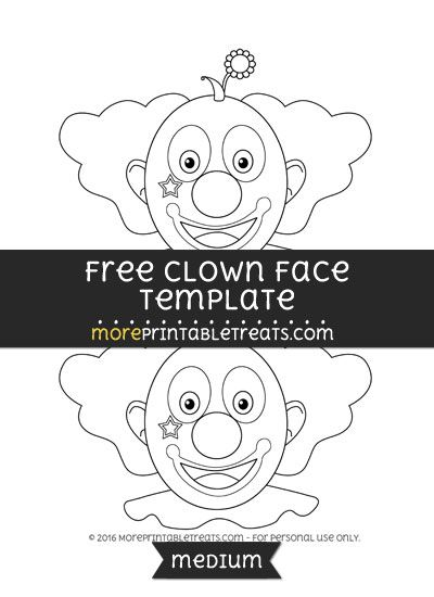 Free Clown Face Template - Medium | Shapes and Templates ...