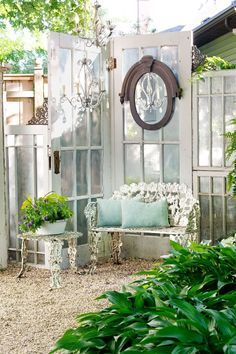 Build a Greenhouse or Potting Garden Shed From Old Windows & Doors