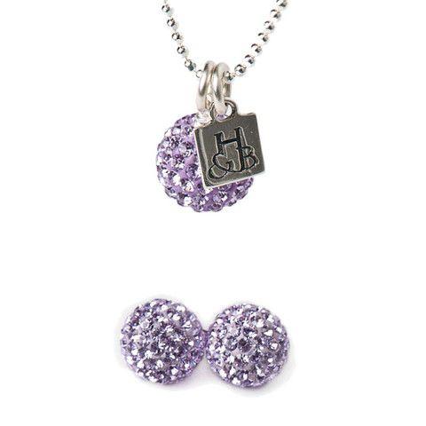 Violet Sparkle Earrings and Necklace Set – Hillberg & Berk